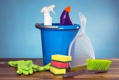 Εργαλεία καθαρίζοντας προϊόντων Στοκ φωτογραφία με δικαίωμα ελεύθερης χρήσης