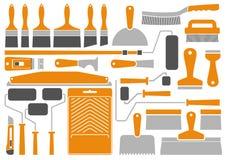 Εργαλεία και εξοπλισμός ζωγραφικής σπιτιών Στοκ Εικόνα