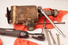 Εργαλεία και μέρη στοκ εικόνα