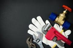 Εργαλεία και υλικά υδραυλικών Στοκ Φωτογραφίες