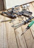 Εργαλεία και mortise κλειδαριά στοκ εικόνες με δικαίωμα ελεύθερης χρήσης