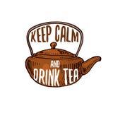 Εργαλεία κατσαρολών και teapot ή κουζινών, μαγειρεύοντας ουσία για τη διακόσμηση επιλογών έμβλημα λογότυπων ψησίματος ή ετικέτα,  Στοκ Εικόνες
