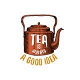 Εργαλεία κατσαρολών και teapot ή κουζινών, μαγειρεύοντας ουσία για τη διακόσμηση επιλογών έμβλημα λογότυπων ψησίματος ή ετικέτα,  Στοκ φωτογραφίες με δικαίωμα ελεύθερης χρήσης