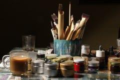 Εργαλεία καλλιγραφίας Στοκ φωτογραφίες με δικαίωμα ελεύθερης χρήσης
