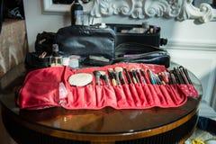 Εργαλεία καλλιτεχνών Makeup Στοκ φωτογραφίες με δικαίωμα ελεύθερης χρήσης