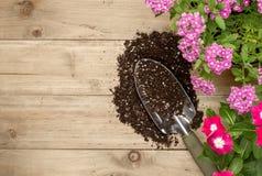 εργαλεία κηπουρικής λουλουδιών Στοκ φωτογραφία με δικαίωμα ελεύθερης χρήσης