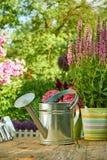 Εργαλεία κηπουρικής στον κήπο Στοκ εικόνα με δικαίωμα ελεύθερης χρήσης