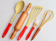 Εργαλεία κουζινών που απομονώνονται Στοκ Εικόνες