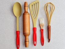 Εργαλεία κουζινών που απομονώνονται Στοκ φωτογραφία με δικαίωμα ελεύθερης χρήσης