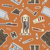 Εργαλεία κυνηγιού σχεδίων, εξοπλισμός Στοκ Εικόνα