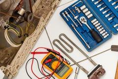 Εργαλεία με το πλυντήριο Στοκ Εικόνες