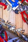 Εργαλεία ξυλουργού και εξαρτήματα επίπλων Στοκ Εικόνα