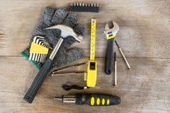 Εργαλεία ξυλουργών και mechnic εργαλεία Στοκ Εικόνες