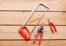 Εργαλεία ξυλουργών Στοκ Εικόνα