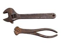 Εργαλεία που απομονώνονται στο άσπρο υπόβαθρο Στοκ εικόνα με δικαίωμα ελεύθερης χρήσης