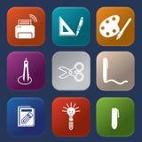 Εργαλεία που μαθαίνουν το εικονίδιο Στοκ Εικόνα