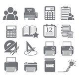 Εργαλεία που μαθαίνουν το σύνολο 4 εικονιδίων Στοκ φωτογραφία με δικαίωμα ελεύθερης χρήσης