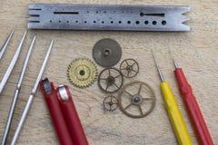 Εργαλεία ρολογιών Στοκ Φωτογραφία