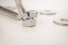 Εργαλεία σε ένα άσπρο υπόβαθρο Στοκ Φωτογραφίες