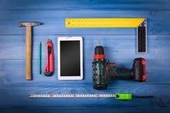 Εργαλεία στον πίνακα Στοκ Εικόνες