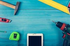 Εργαλεία στον πίνακα Στοκ Εικόνα