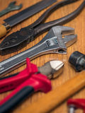 Εργαλεία στο πάτωμα Στοκ Εικόνα