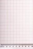 Εργαλεία σχεδίων σε χαρτί γραφικών παραστάσεων Στοκ Φωτογραφίες