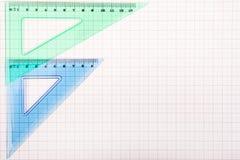 Εργαλεία σχεδίων σε χαρτί γραφικών παραστάσεων Στοκ Φωτογραφία