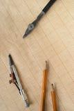 Εργαλεία σχεδίων Στοκ Φωτογραφία