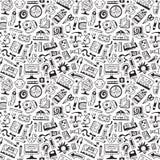 Εργαλεία τέχνης, σχολείο - άνευ ραφής υπόβαθρο Στοκ εικόνα με δικαίωμα ελεύθερης χρήσης
