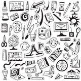 Εργαλεία τέχνης, σχολείο - doodles θέστε Στοκ εικόνα με δικαίωμα ελεύθερης χρήσης