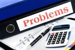 Φάκελλος προβλημάτων στο γραφείο Στοκ φωτογραφία με δικαίωμα ελεύθερης χρήσης