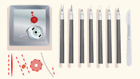 Εργαλεία χειρουργικών επεμβάσεων καρδιών Στοκ φωτογραφία με δικαίωμα ελεύθερης χρήσης