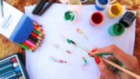 Εργαλεία χεριών και σχεδίων καλλιτέχνη Στοκ εικόνες με δικαίωμα ελεύθερης χρήσης