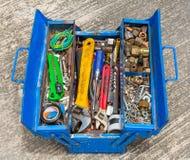 Εργαλεία χεριών στο κιβώτιο Στοκ Εικόνες