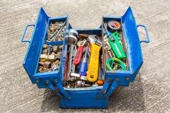 Εργαλεία χεριών στο κιβώτιο Στοκ Εικόνα