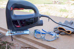 Εργαλεία δύναμης για την ξυλουργική Στοκ Φωτογραφίες