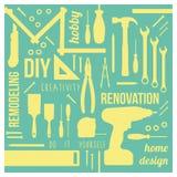 Εργαλεία DIY με τις έννοιες διανυσματική απεικόνιση