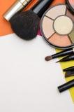 Εργαλεία Makeup Βούρτσες και σκιά ματιών Στοκ φωτογραφία με δικαίωμα ελεύθερης χρήσης