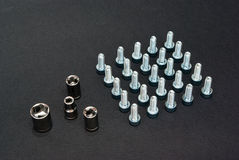 Εργαλείο και μπουλόνια μετάλλων Στοκ Εικόνες