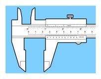 Εργαλείο παχυμετρικών διαβητών βερνιέρων Στοκ Εικόνες
