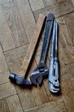 Εργαλείο σε έναν πίνακα Στοκ Φωτογραφία