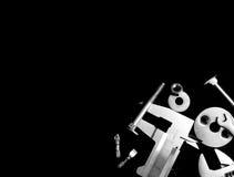 Εργαλείο σε ένα μαύρο υπόβαθρο Στοκ φωτογραφία με δικαίωμα ελεύθερης χρήσης