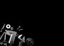 Εργαλείο σε ένα μαύρο υπόβαθρο Στοκ Φωτογραφία
