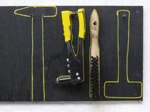 Εργαλείο σε μια μαύρη στάση Στοκ Εικόνα