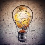 Εργαλείο στο lightbulb Στοκ Εικόνες