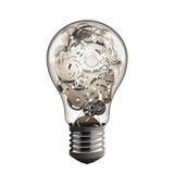 Εργαλείο στο lightbulb Στοκ φωτογραφία με δικαίωμα ελεύθερης χρήσης