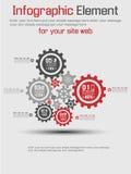 Εργαλείο υποβάθρου Infographic Στοκ Εικόνα