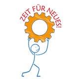 Εργαλείο Zeit fuer Neues Stickman Στοκ φωτογραφία με δικαίωμα ελεύθερης χρήσης