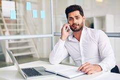 Εργοδότης στο τηλέφωνο Στοκ Εικόνες